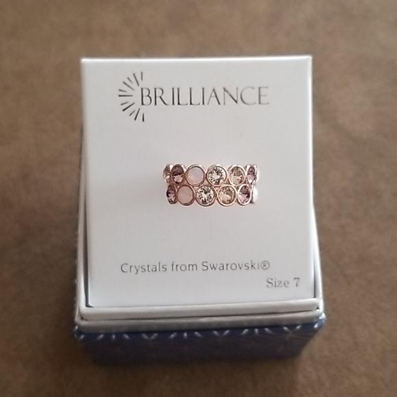 Pink Crystal Rose Gold Ring